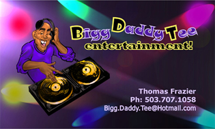 Big Daddy T Business Card Design