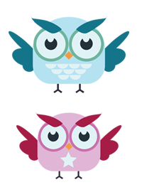 Simple owl design for icon or other use.