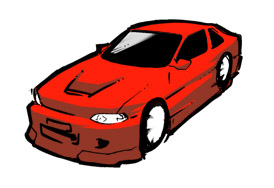 Red Race Car Graphic